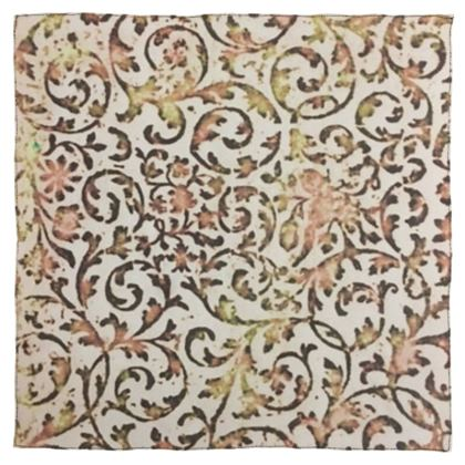 Brown, White and Gold  Sixties-Inspired Wallpaper Design © Scarf Wrap or Shawl