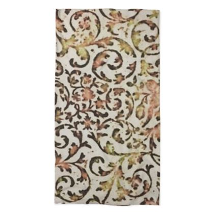 Brown, White and Gold Sixties-Inspired Wallpaper Design © Neck Tube Scarf