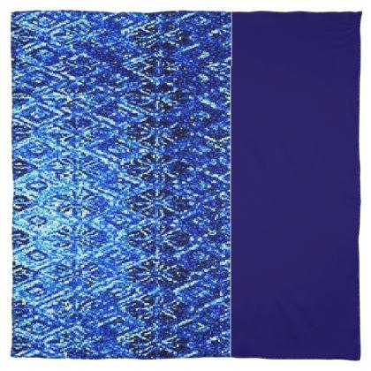 Shimmering Blue Diamond Design © Scarf