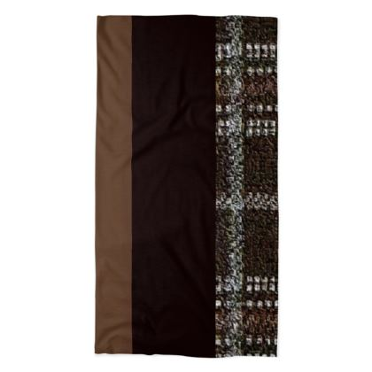 Mix-Matched Brown Shades and White Box Designs  ©  Neck Tube Scarf