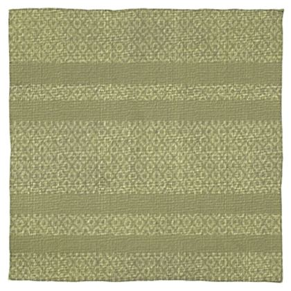 Brownish Green Peanut Design Striped Shawl  ©