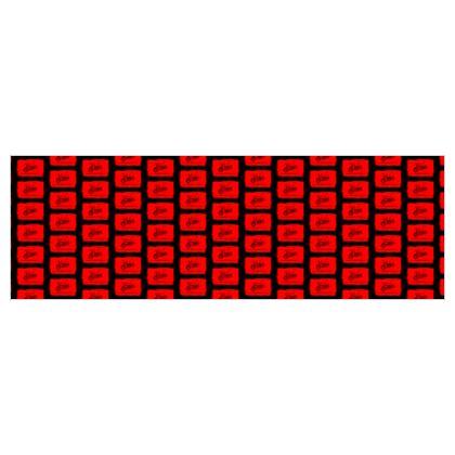 Jersey Meterware Motorrad rot-schwarz