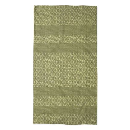 Brownish Green Peanut Design Stripe Diamond Pattern  ©  Neck Tube Scarf