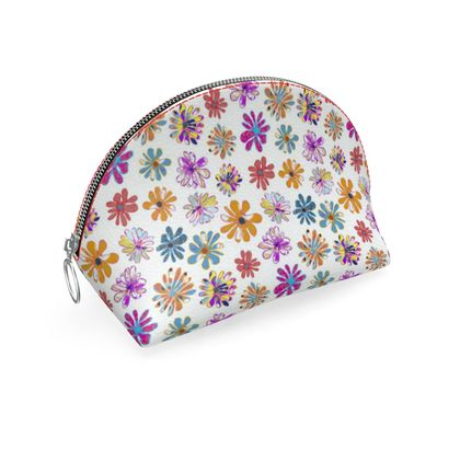 Rainbow Daisies Collection on yellow Shell Coin Purse