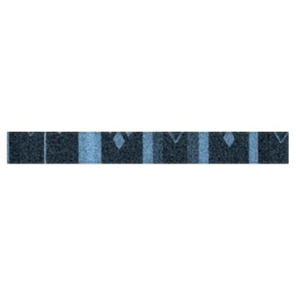 Blue Diamond Line Design © Fleece Scarf