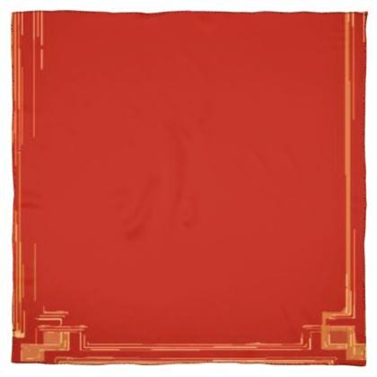 Red Book Edge Design Scarf Wrap or Shawl ©