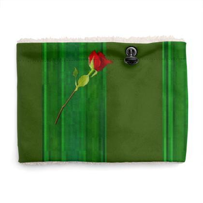 Green Stripe and Rose Design © Sherpa Snood