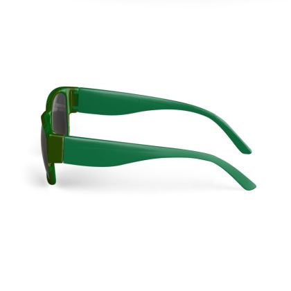 Green Stripe and Rose Design © Sunglasses