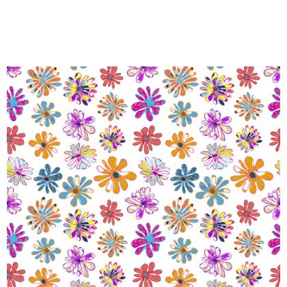 Rainbow Daisies Collection Table Runner