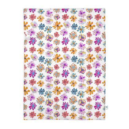 Rainbow Daisies Collection Blanket