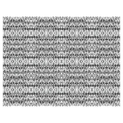Mosaic grey mouse mat