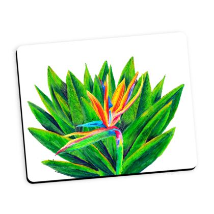 Birds of paradise flower mouse mat