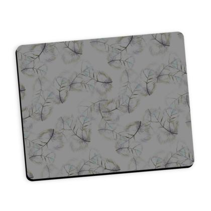 Falling feather grey mouse mat