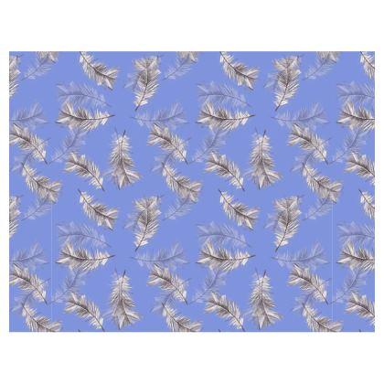 Violet feather mouse mat