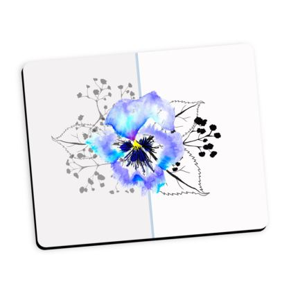 Pansy mouse mat