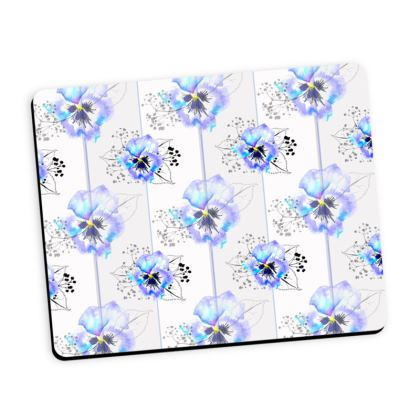 Pansy repeat mouse mat