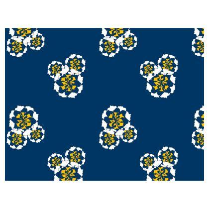 Navy flower mouse mat