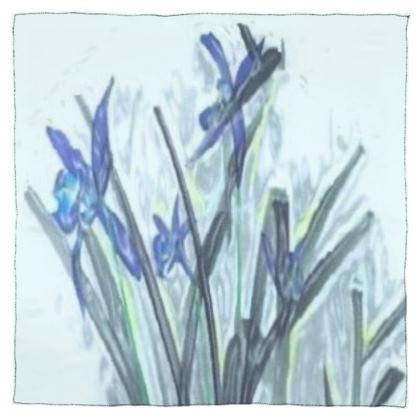 Elegant Blue Orchid Design © Scarf Wrap or Shawl