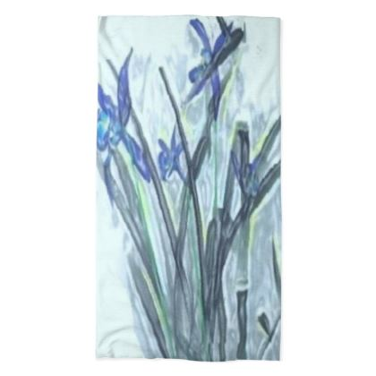 Elegant Blue Orchid Design © Tube Scarf