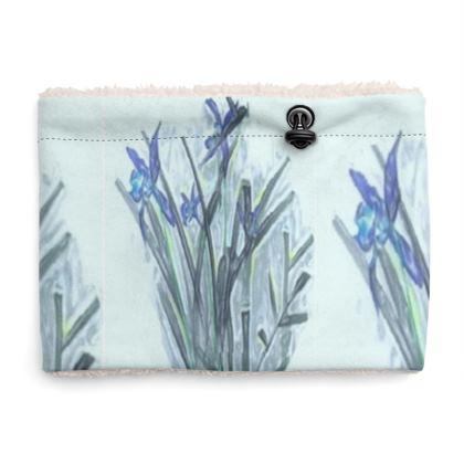 Elegant Blue Orchid Design © Sherpa Snood