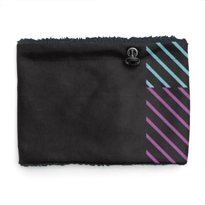Lavender, Blue and Pink Color Line Design Sherpa Snood ©
