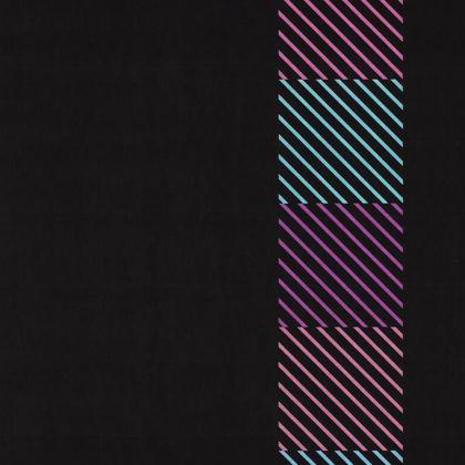Lavender, Blue and Pink Color Line Design ©  Dark Hard Glass Case