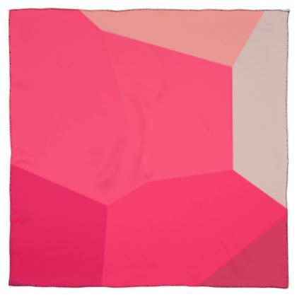 Shades of Pink Abstract Design Scarf Wrap or Shawl ©
