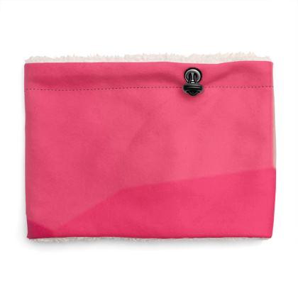 Shades of Pink Abstract Design Sherpa Snood ©