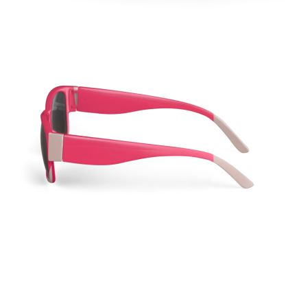 Shades of Pink Abstract Design Sunglasses ©