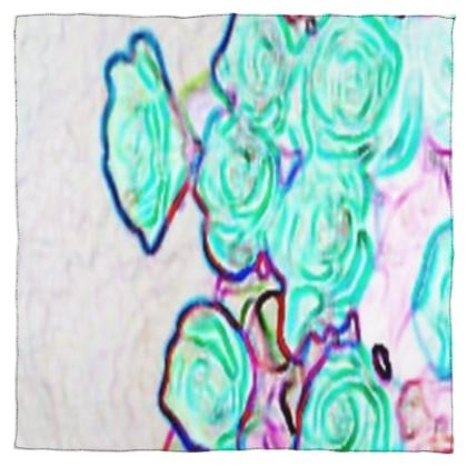 Colorful and Vibrant Floral Design © Scarf Wrap or Shawl
