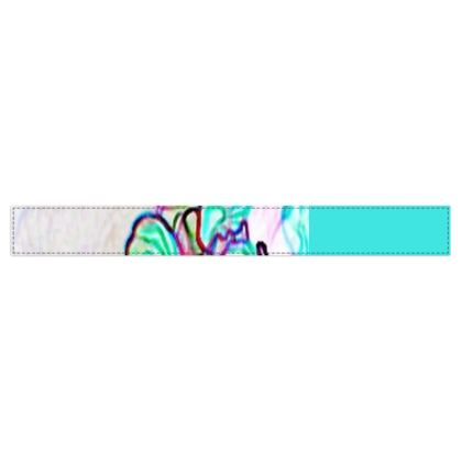 Colorful and Vibrant Floral Design © Fleece Scarf