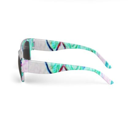 Colorful and Vibrant Floral Design © Sunglasses