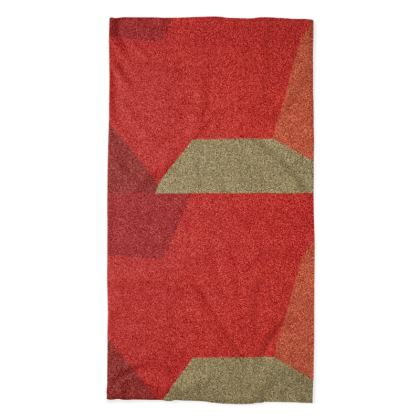 Shades of Red and Grey Abstract Design Neck Tube Scarf ©