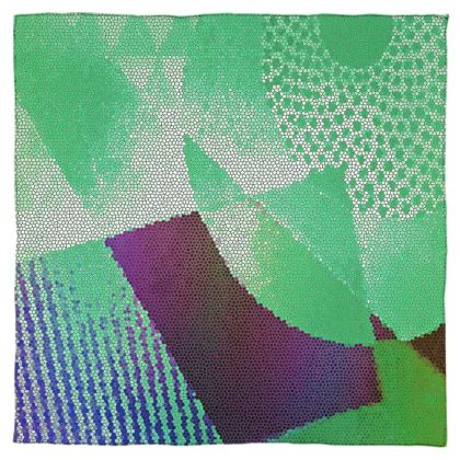 Green and Purple Abstract Design  Scarf Wrap or Shawl ©