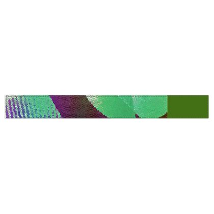 Purple and Green Abstract Design © Fleece Scarf