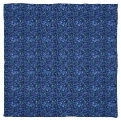 Shades of Blue Scarf Wrap or Shawl ©