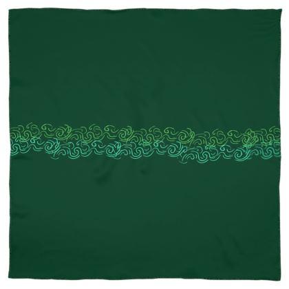 Emerald Green Scarf Wrap or Shawl ©