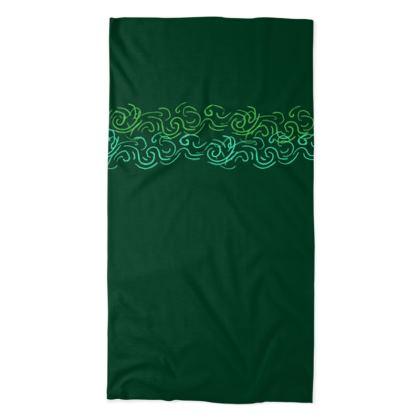 Emerald Green Neck Tube Scarf ©
