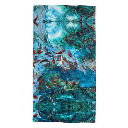 Ocean Depths, Earth Day, Environmental Neck Tube Scarves