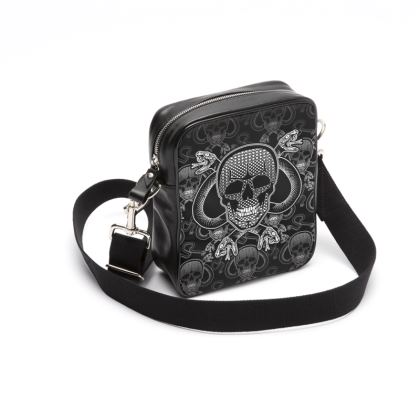 Skull and snakes shoulder bag
