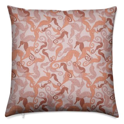 Sea Life Collection_Seahorses (small) - Luxury Cushion