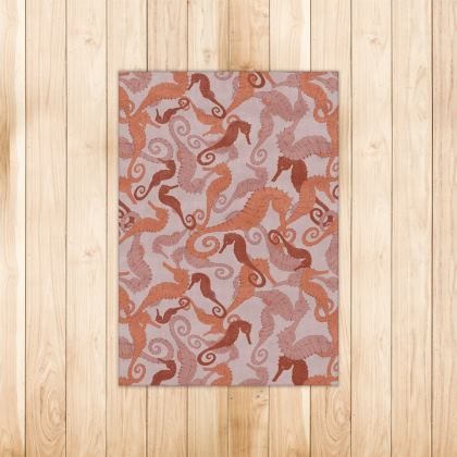 Sea Life Collection_Large Seahorses  - Luxury Rug