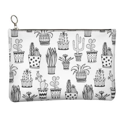 cactus Leather Clutch Bag