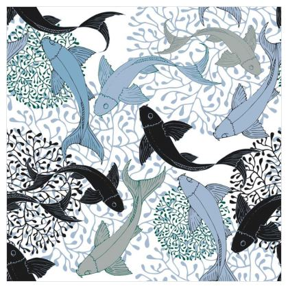 Sea Life Collection_Sea Ginger (White) - Luxury Wallpaper
