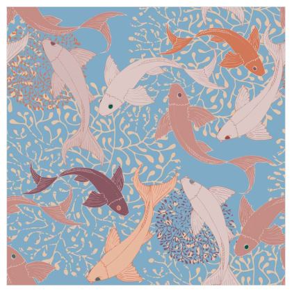 Sea Life Collection_Sea Ginger (Blue) - Luxury Wallpaper