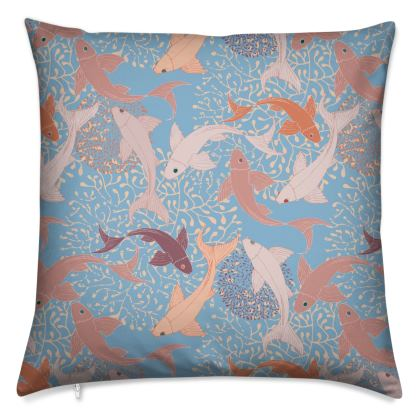 Sea Life Collection_Sea Ginger (Blue) - Luxury Cushion
