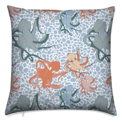 Sea Life Collection (Octopus) - Luxury Cushion