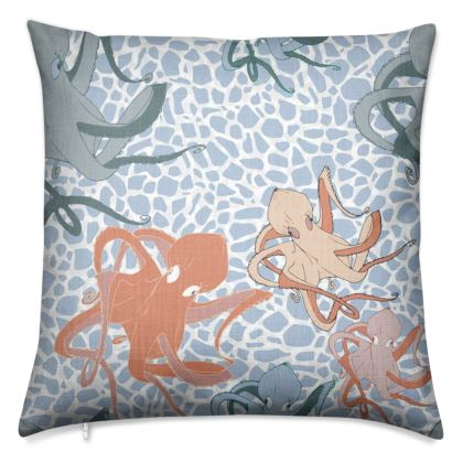 Sea Life Collection_Octopus Family - Luxury Cushion