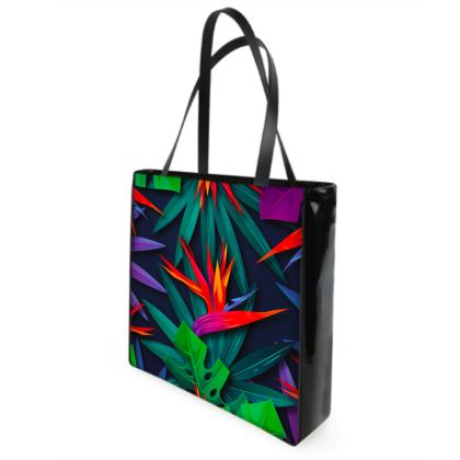 bird of paradise Shopper Bags