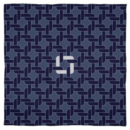 Linked Navy Scarf Wrap or Shawl